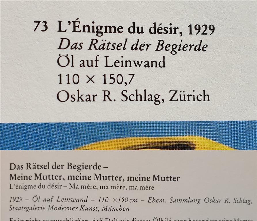 Salvador Dalí Oscar Oskar R Schlag l'Énigme du désir 1929