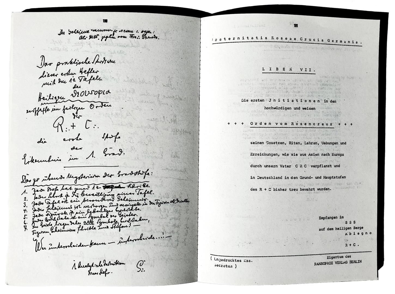 Heinrich Traenker Instruktionen Instructions Pansophia Pansophie