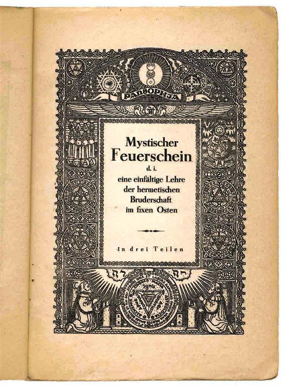 Heinrich Traenker Pansophia Pansophische Gesellschaft