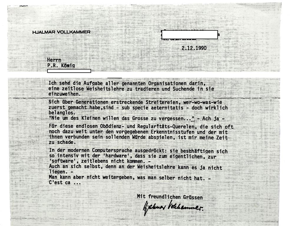 Hjalmar Vollkammer, Prometheus, Ordo Illuminatorum Germaniae, Quatuor Coronati