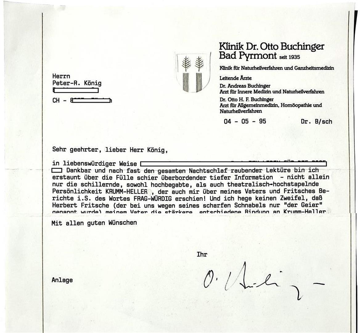 Otto Buchinger Herbert Fritsche Arnoldo Krumm-Heller Peter-Robert Koenig