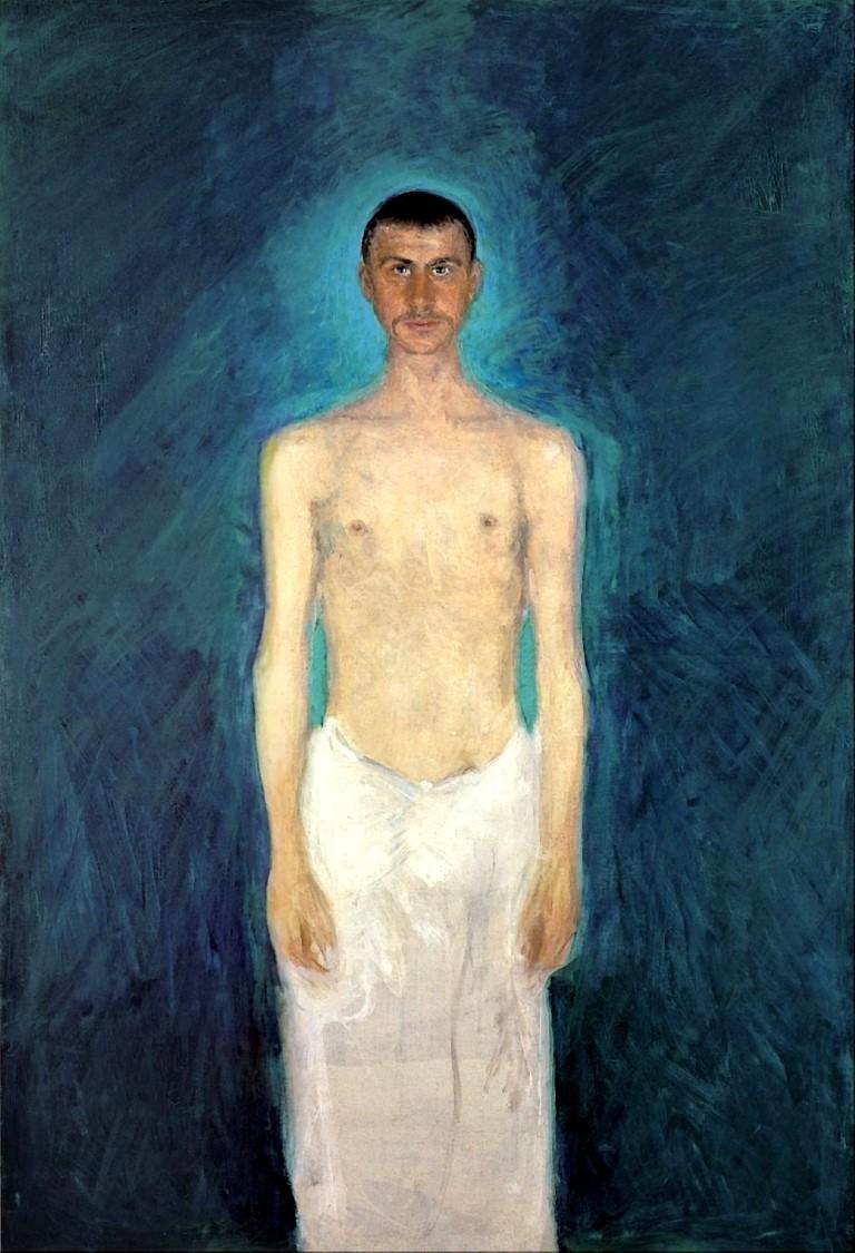 Richard Gerstl, Selbstbildnis als Halbakt, 1904/05, manchmal auch als 'Lazarus' interpretiert, Leopold Museum, Wien