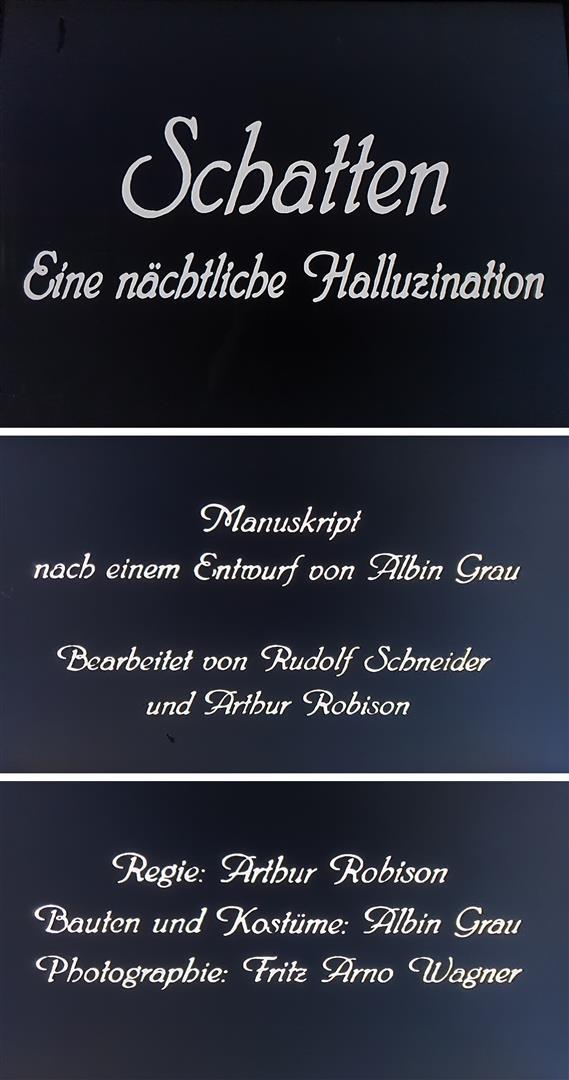 Albin Grau Schatten Pan-Film 1923