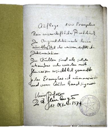 Adolf Hemberger, Pansophie und Rosenkreuz, Vol. II Nº 1, Giessen 1974