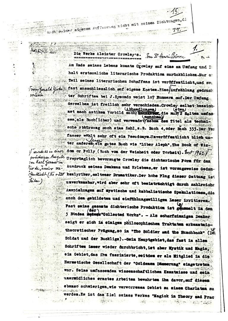 Henry Clemens Birven Die Werke Aleister Crowleys