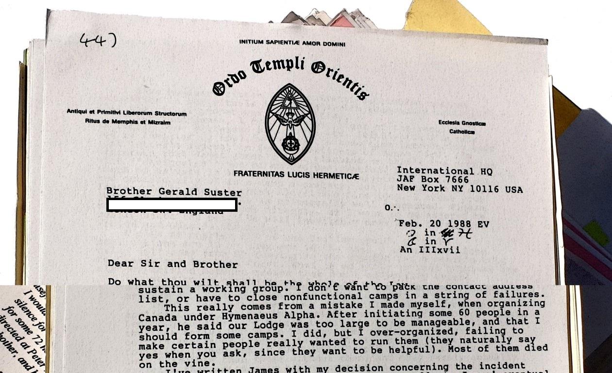 William Bill Breeze Gerald Suster Ordo Templi Orientis Caliphate Canada