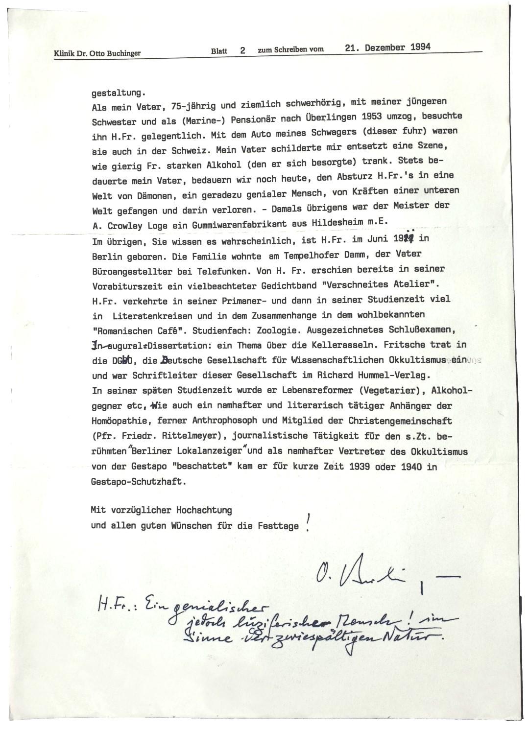 Herbert Fritsche Otto Buchinger Bad Pyrmont