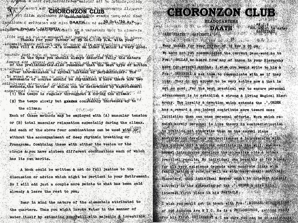 Choronzon Club, Cecil Frederick Russell, Genesthai