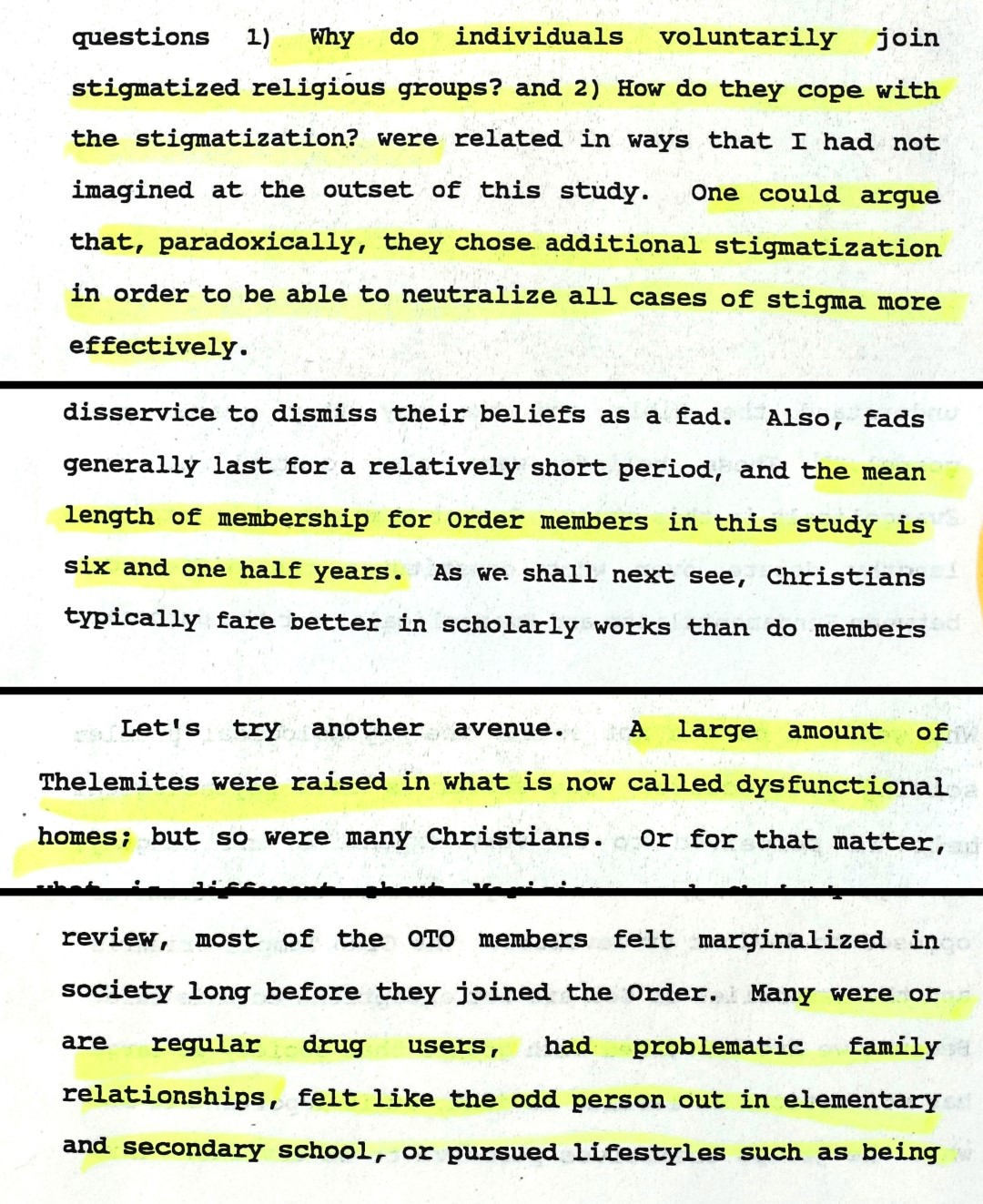 Claudia Kowalchyk, A study of two 'deviant' religious groups. The Assemblies of God and the Ordo Templi Orientis, NY 1994, pages 55, 93, 103, 208
