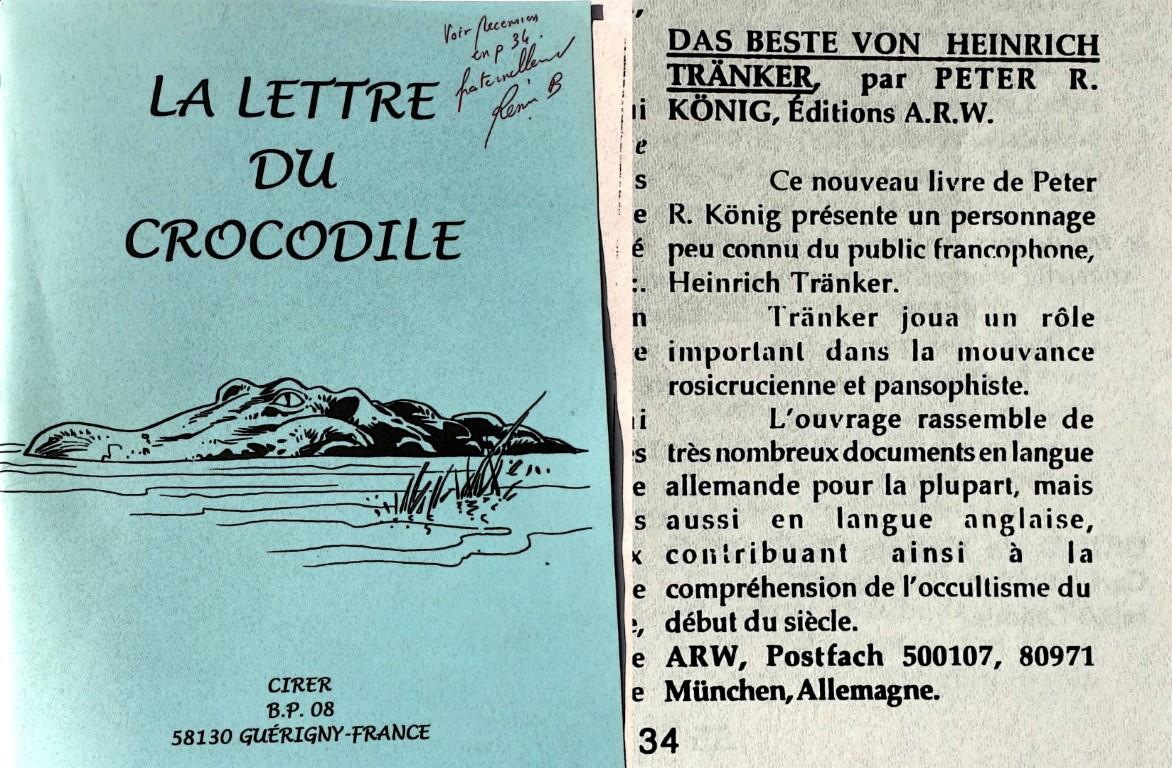 Lettre du Crocodile Peter Robert Koenig Das Beste von Heinrich Traenker