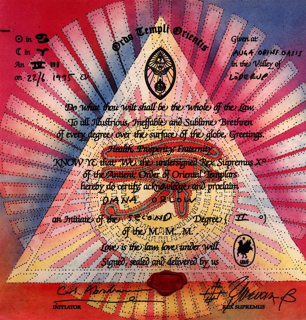 Diana Orlow alias Lilith Von Sirius, Ordo Templi Orientis