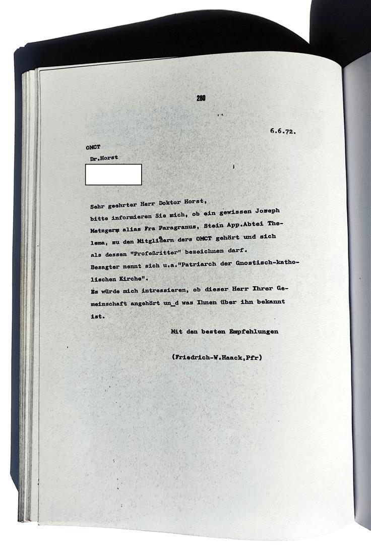 Ordo Militiae Crucis Templi, Hermann Joseph Metzger