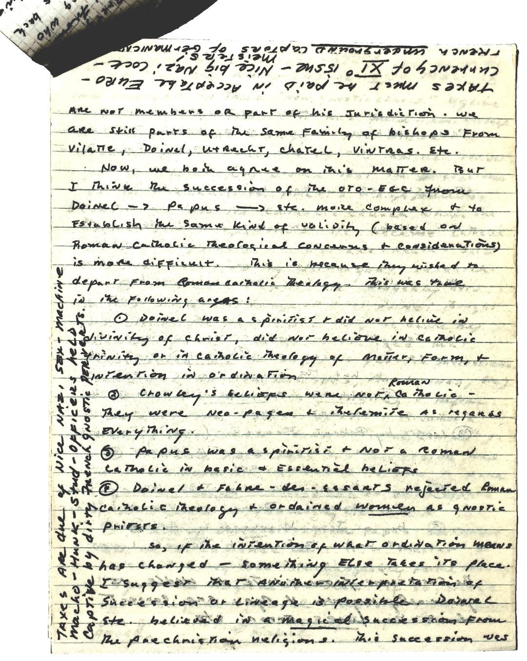 Michael Paul Bertiaux Ordo Templi Orientis Antiqua Choronzon Club Peter-Robert Koenig 1989-01-10