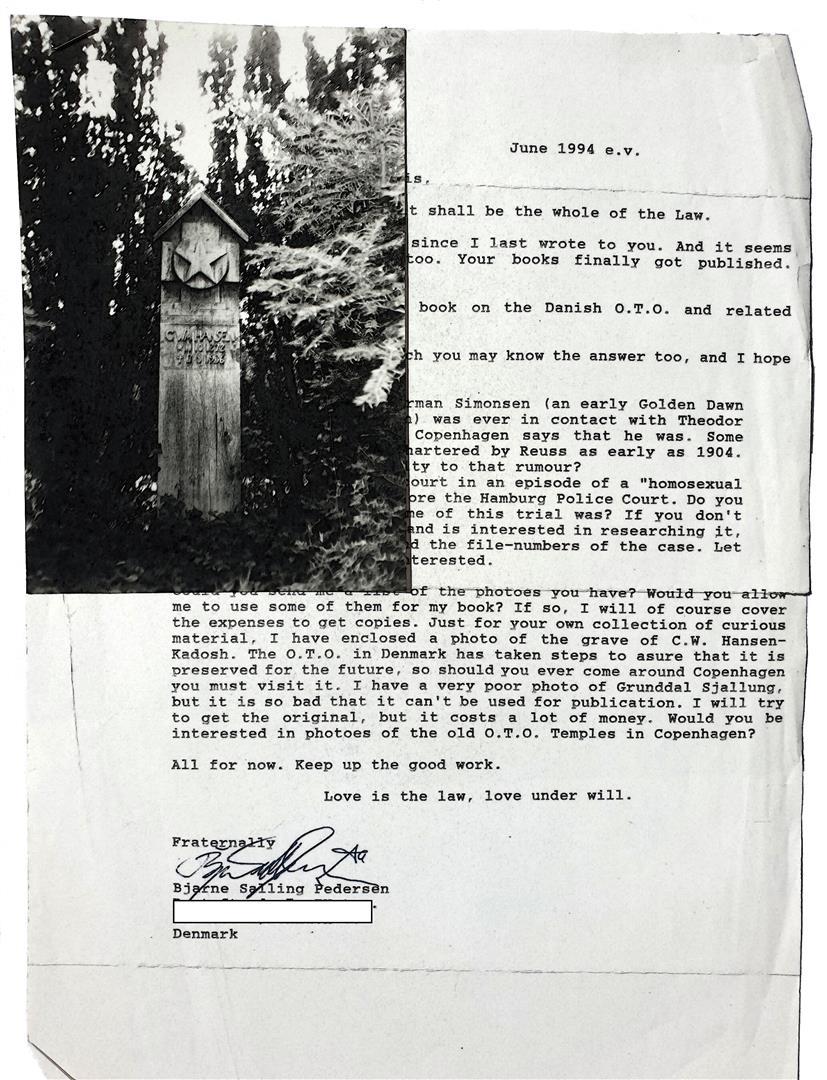 Bjarne Salling Pedersen Carl William Hansen Kadosh Grave