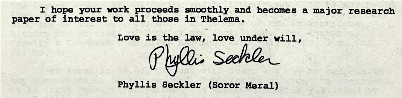 Phyllis Seckler Meral Grady Louis McMurtry Ordo Templi Orientis Peter-Robert Koenig