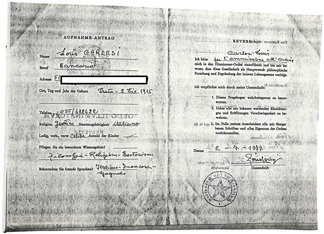 Loris Carlesi Tau  Johannes Chiesa Gnostica Italiana Ordo Illuminatorum