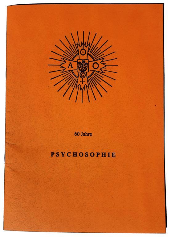 Psychosophie 60 Jahre Psychosophische Gesellschaft