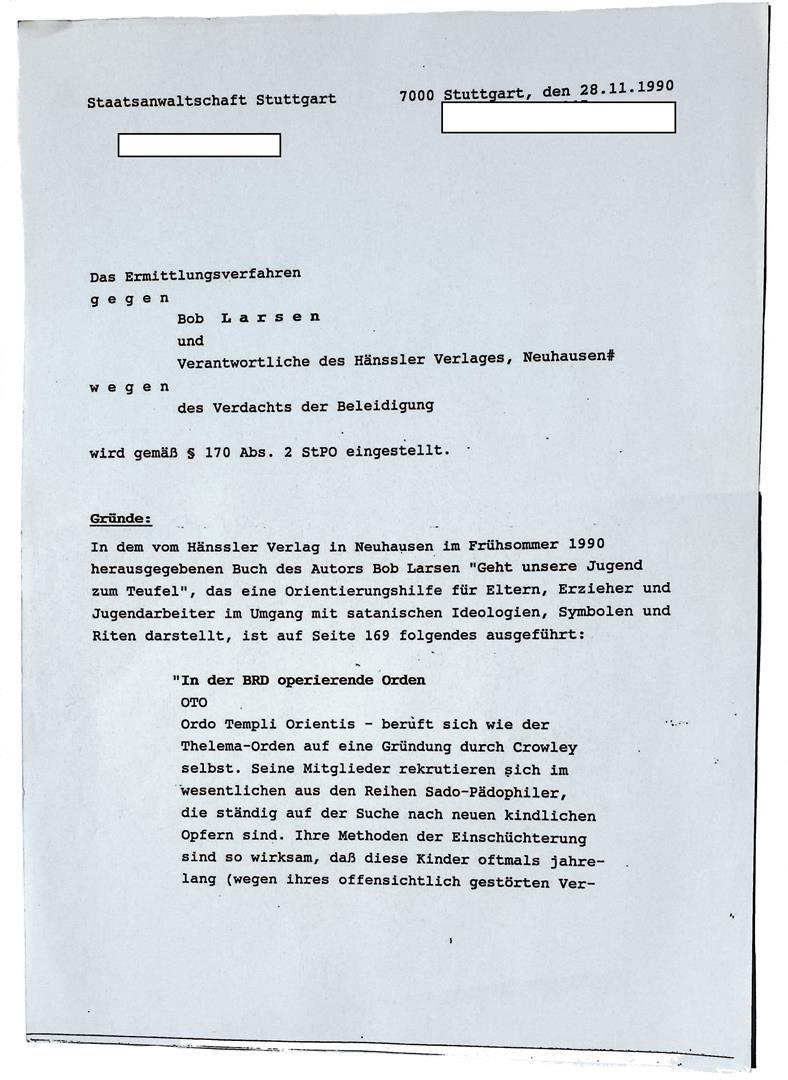Ordo Templi Orientis William Breeze Caliphat Haenssler Verlag Bob Larsen