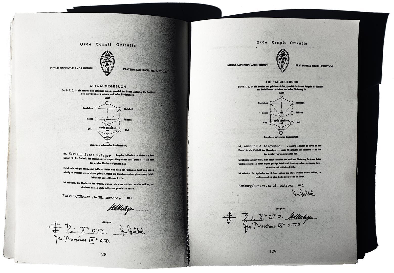 Hermann Joseph Metzger Annemarie Aeschbach O.T.O. Ordo Templi Orientis Karl Germer Friedrich Frederic Mellinger