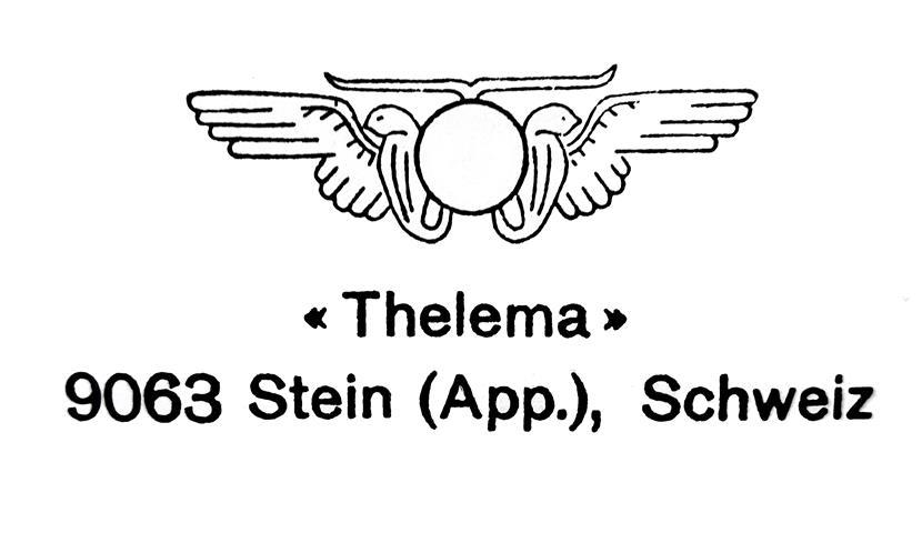 Thelema Stein Appenzell Schweiz