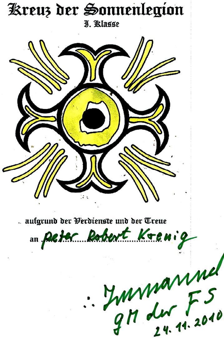 Kreuz der Sonnenlegion Fraternitas Saturni