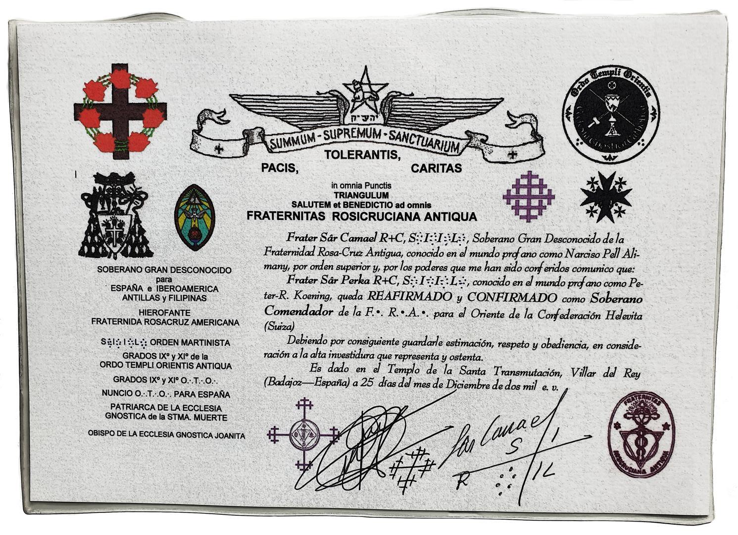 Comendador of F.R.A. Spain