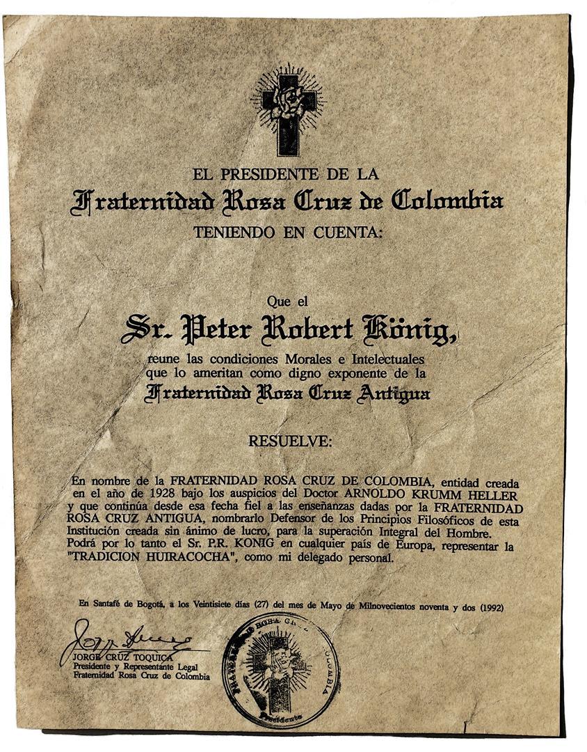 Representative of F.R.A. Colombia