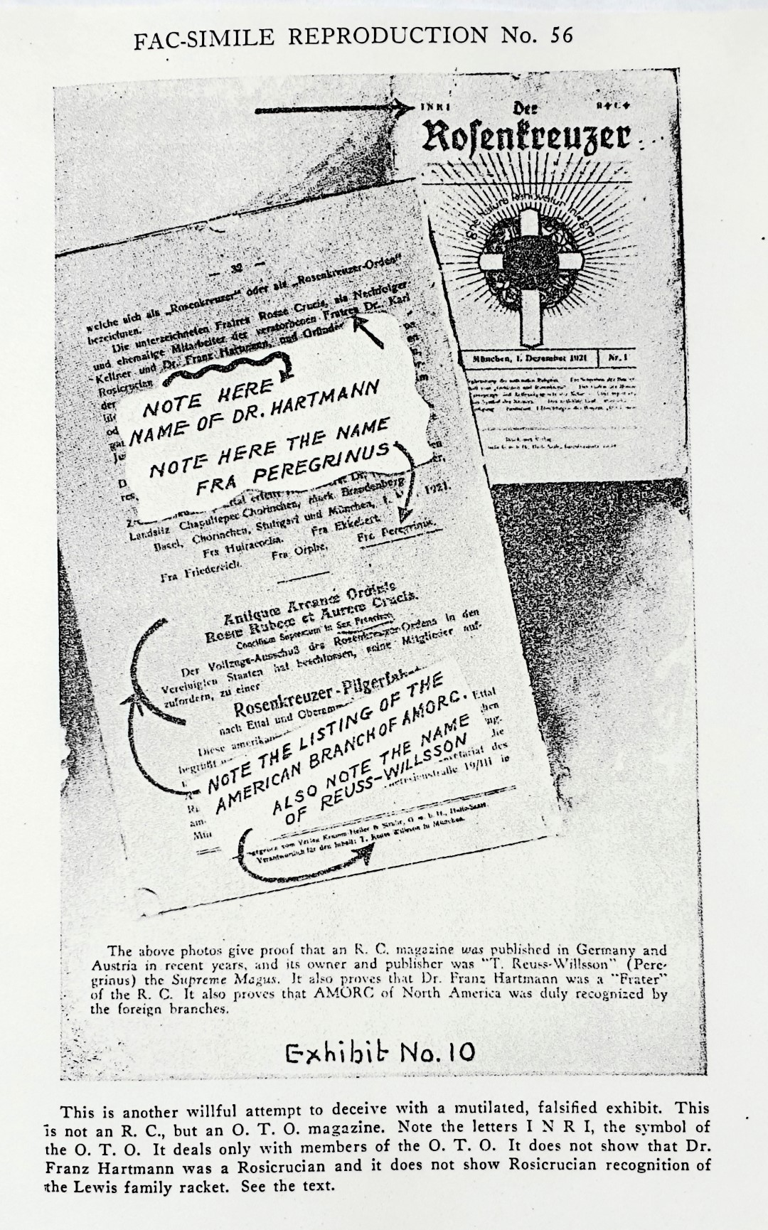 Reuben Swinburne Clymer, The Rosicrucian Fraternity in America, Book of Rosicruciae, Spencer Lewis, A.M.O.R.C., Der Rosenkreuzer, Arnoldo Krumm-Heller, Franz Hartmann