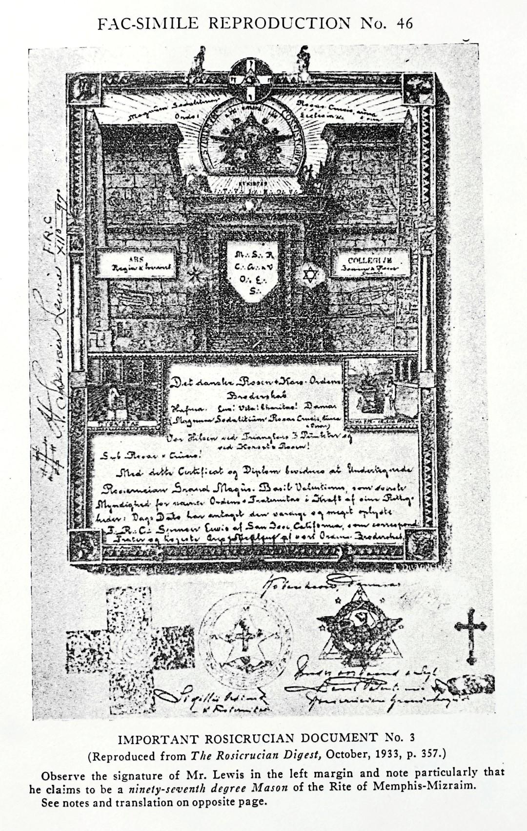 Reuben Swinburne Clymer, The Rosicrucian Fraternity in America, Book of Rosicruciae, Spencer Lewis, A.M.O.R.C., Memphis Mizraim
